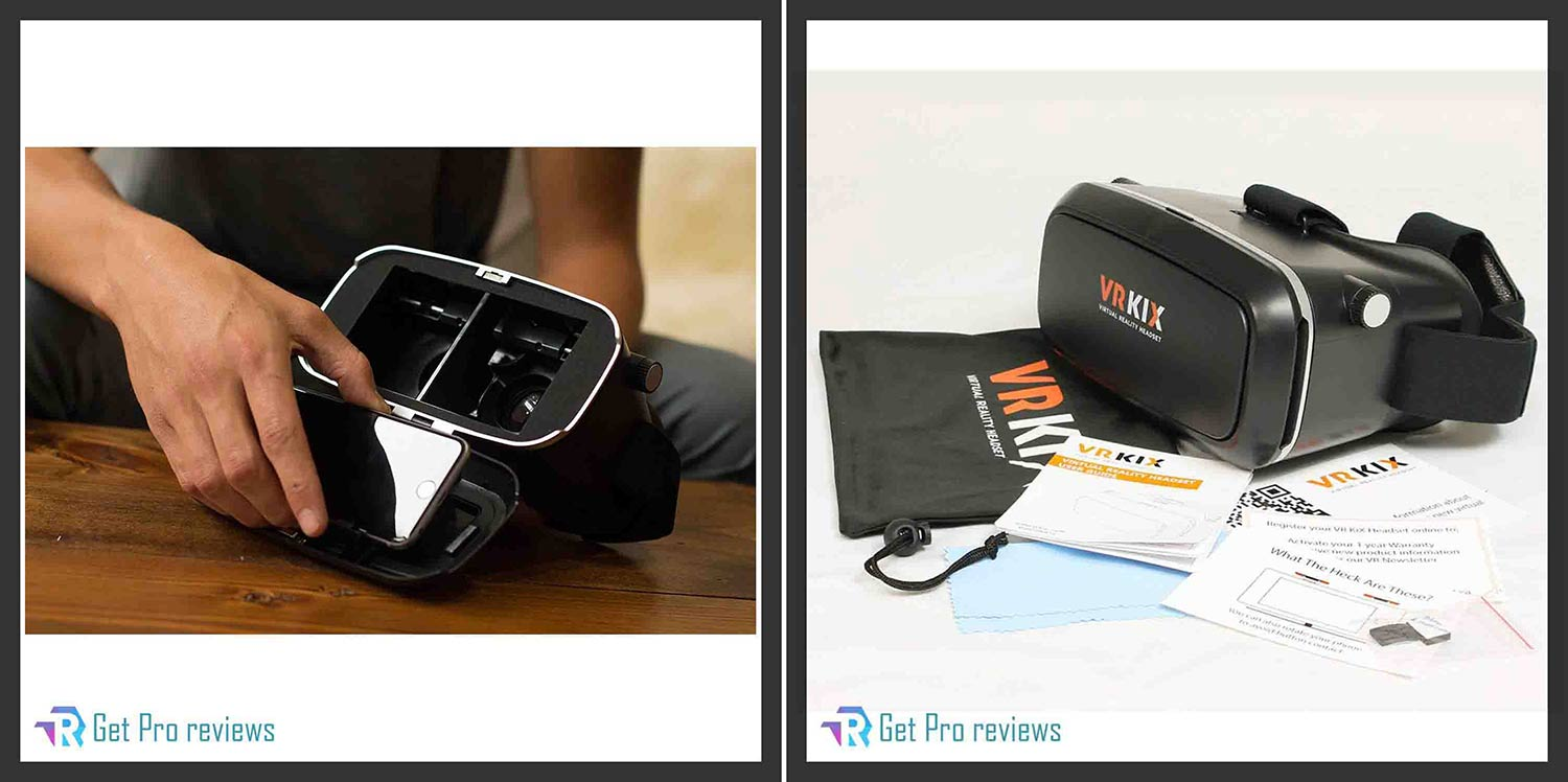 VRKiX Virtual Reality 3D Glasses with Google Cardboard App