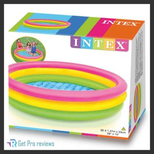 Intex Kiddie Swimming Pool with Sunset Summer Design