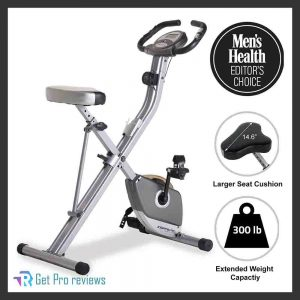 Exerpeutic Folding Magnetic Upright Exercising Bike with a Pulse