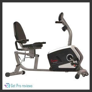 Sunny Health and Fitness, Magnetic Recumbent Position Exercise Bike