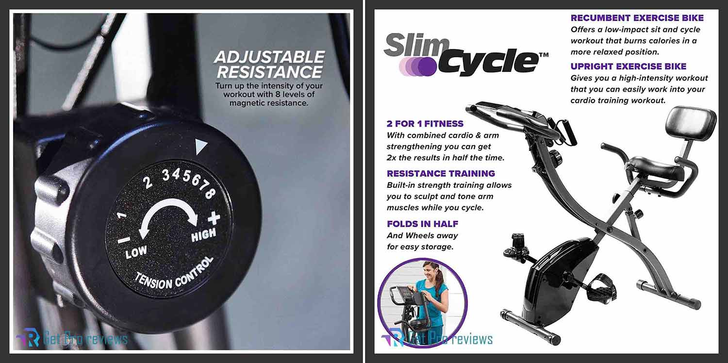 Bulb Head As Seen On TV Slim Cycle 2-in-1 Stationary Bike