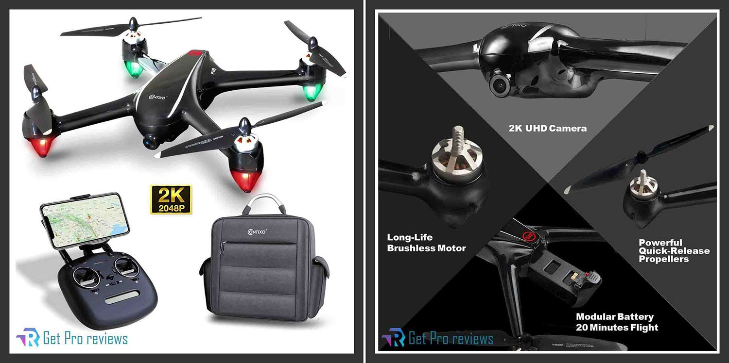 Contixo F18 2K FPV RC Drone with Camera for Adults