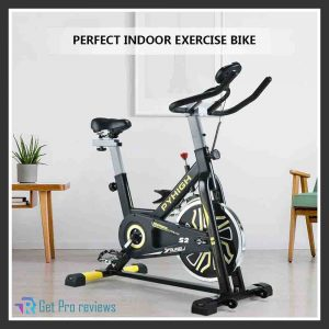PYHIGH Indoor Cycling Bike with Belt Drive, Stationary Bicycle