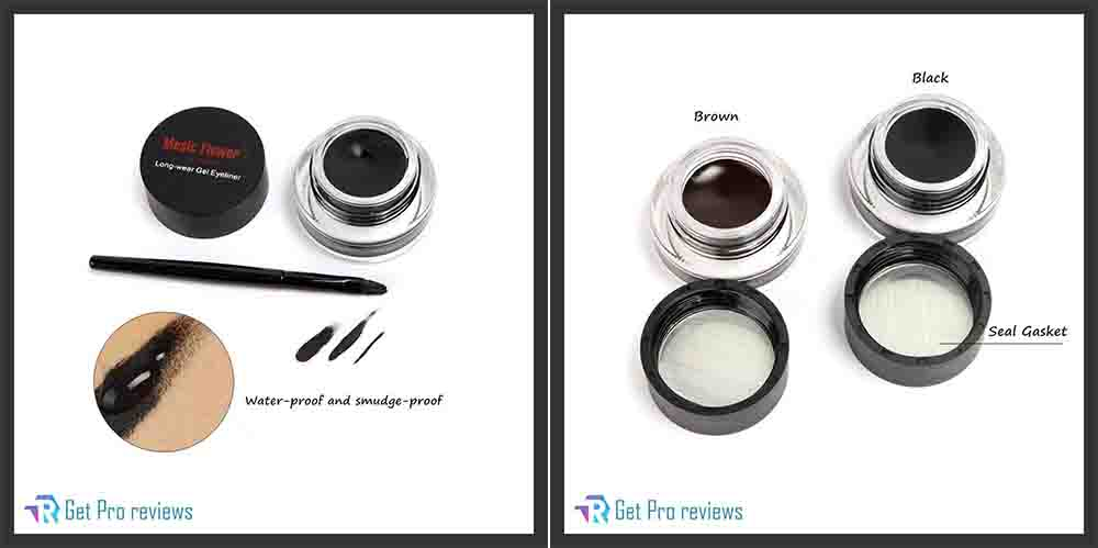 2-in-1 Black and Brown Gel Eyeliner Set