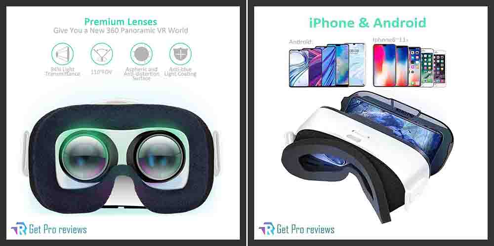 VR Headset for Mobile Games and Movies