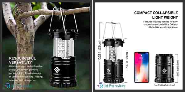 Etekcity LED Camping Lantern Flashlight Portable Lamp AA Battery