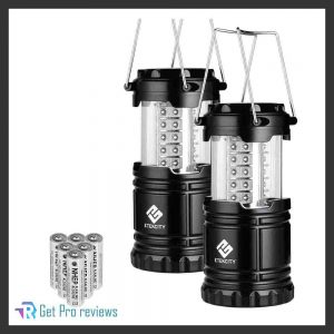 Etekcity LED Camping Lantern Collapsible Flashlight Portable Lamp AA