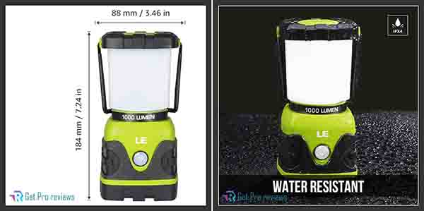 Camping Lantern, Battery Powered LED with 1000LM 0