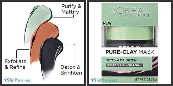 Skincare Pure-Clay Face Mask with Charcoal for Dull Skin to Detox & Brighten Skin
